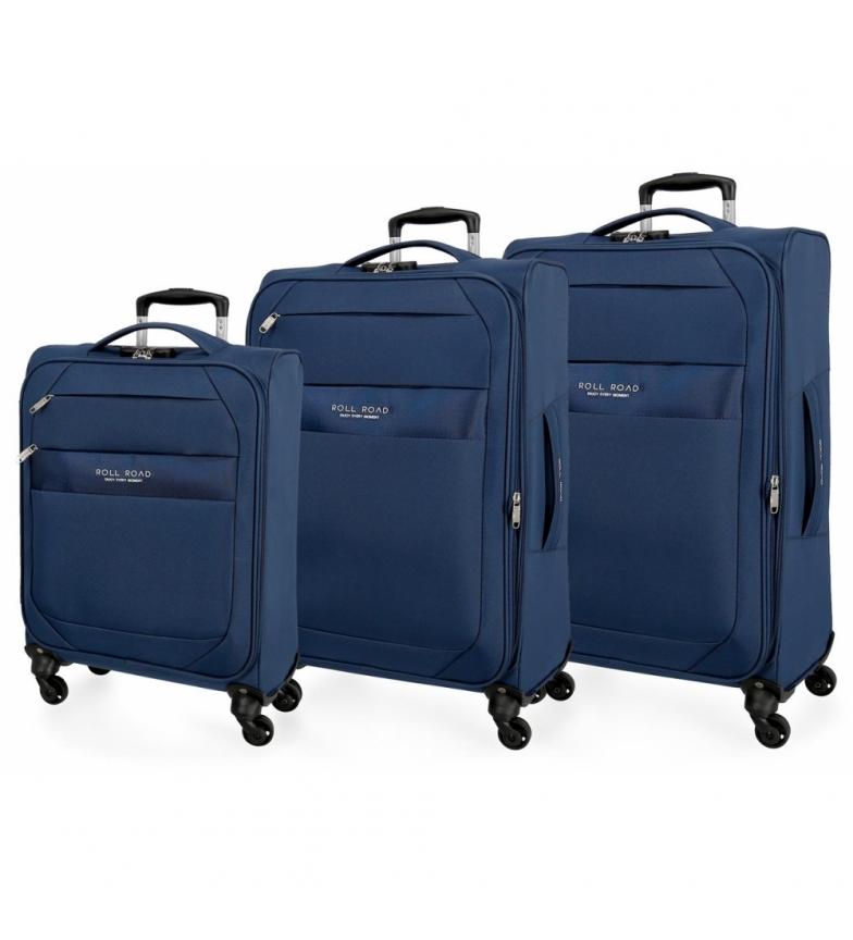 Comprar Roll Road Conjunto de bagagem Roll Road Royce 55-66-76cm Azul -40x55x55x20cm