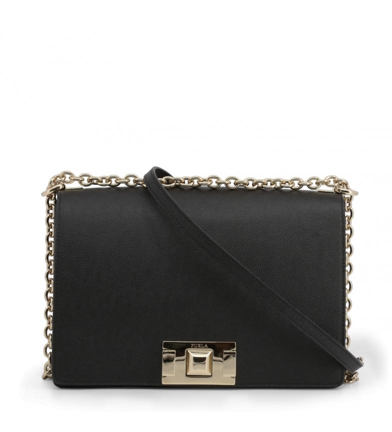 Comprar Furla Sac à bandoulière en cuir 10317 noir -24x16.5x8.5cm
