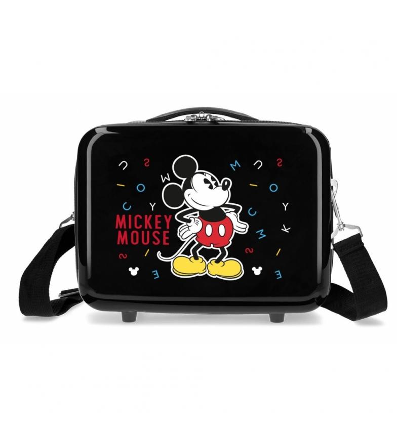 Comprar Mickey ABS Mickey Adaptable Toilet Bag black letters -29x21x15cm