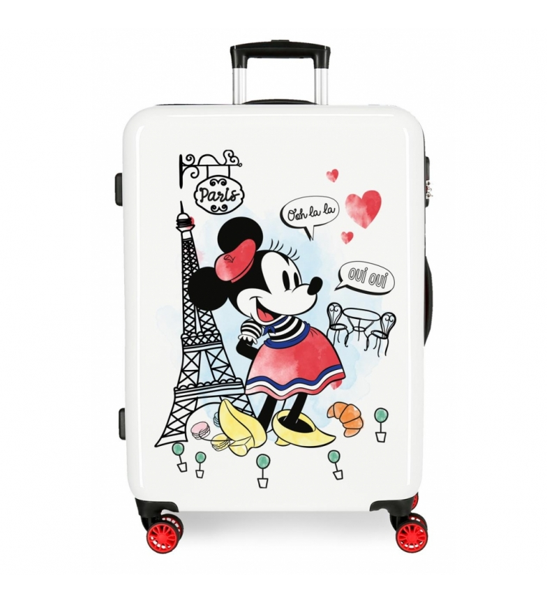 Comprar Minnie Medium Suitcase Minnie Around the World Paris rigid 68cm -48x68x26cm