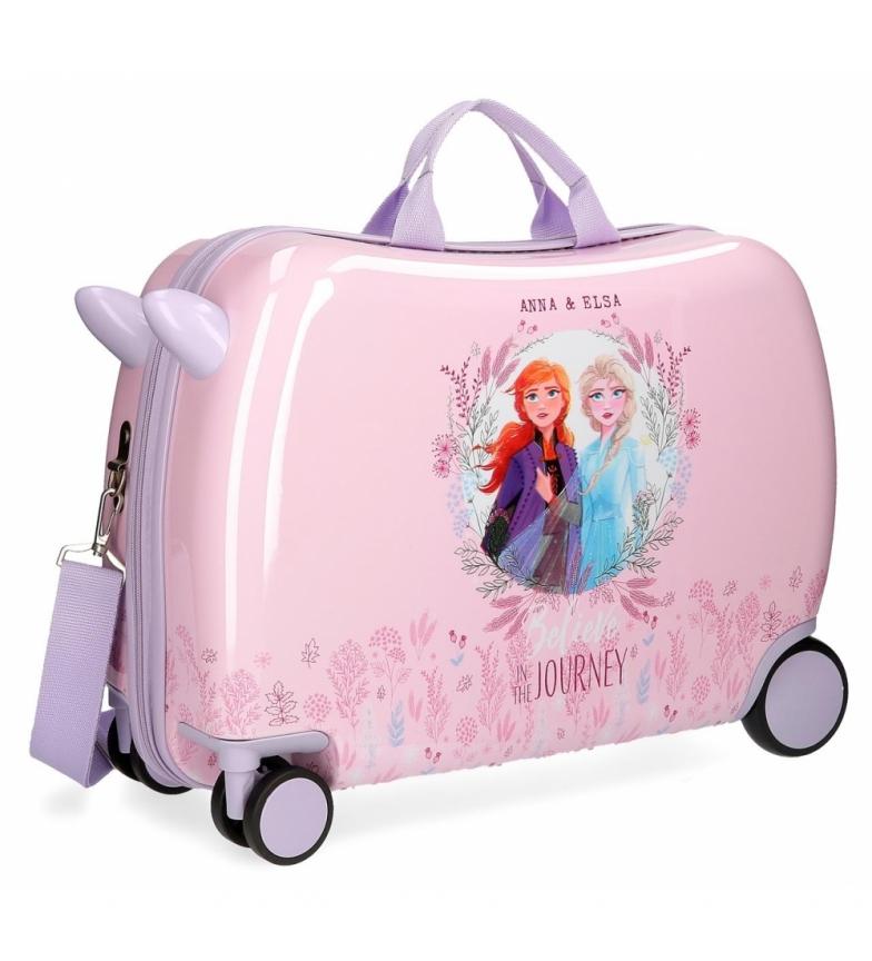 Comprar Frozen Mala de 2 crianças congelada com rodas multidireccionais -38x55x55x20 cm