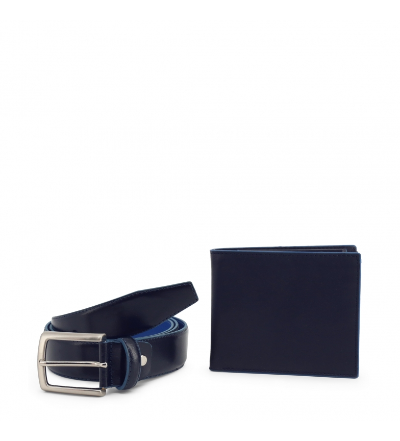 Comprar Made In Italia Wallet + Leather Belt LUCIO blue