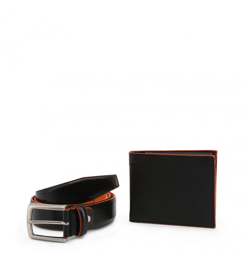 Comprar Made In Italia Porte-documents + ceinture en cuir LUCIO noir, orange