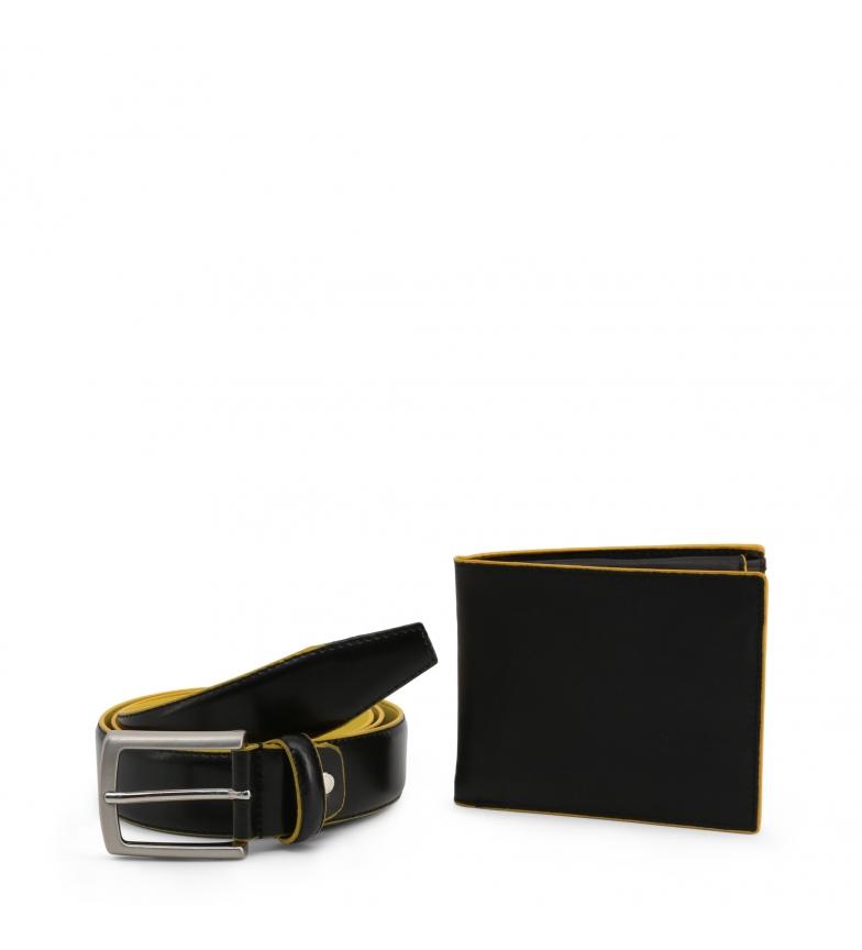 Comprar Made In Italia Briefcase + cinto de couro LUCIO preto, amarelo