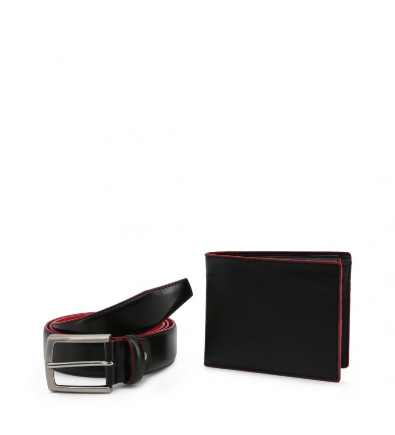 Comprar Made In Italia Cartera + Cinturón de piel LUCIO negro, rojo