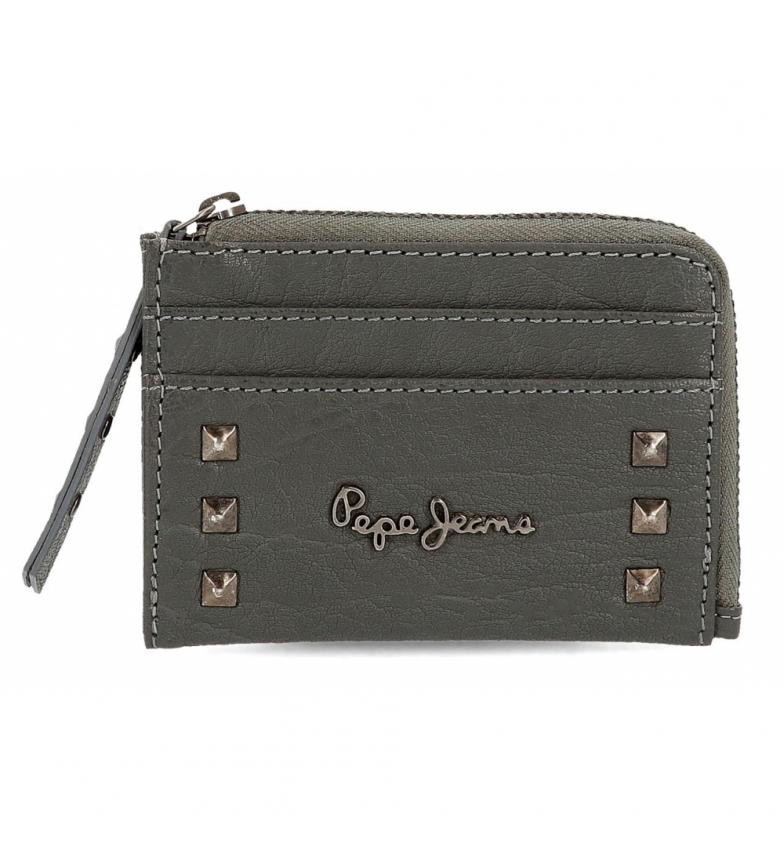 Comprar Pepe Jeans Pepe Jeans Alessia bolsa com suporte para cartão cinzento -11.5x8x1.5cm