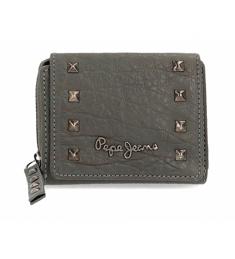 Comprar Pepe Jeans Pepe Jeans Alessia wallet with grey click flap -10.5x8x3cm