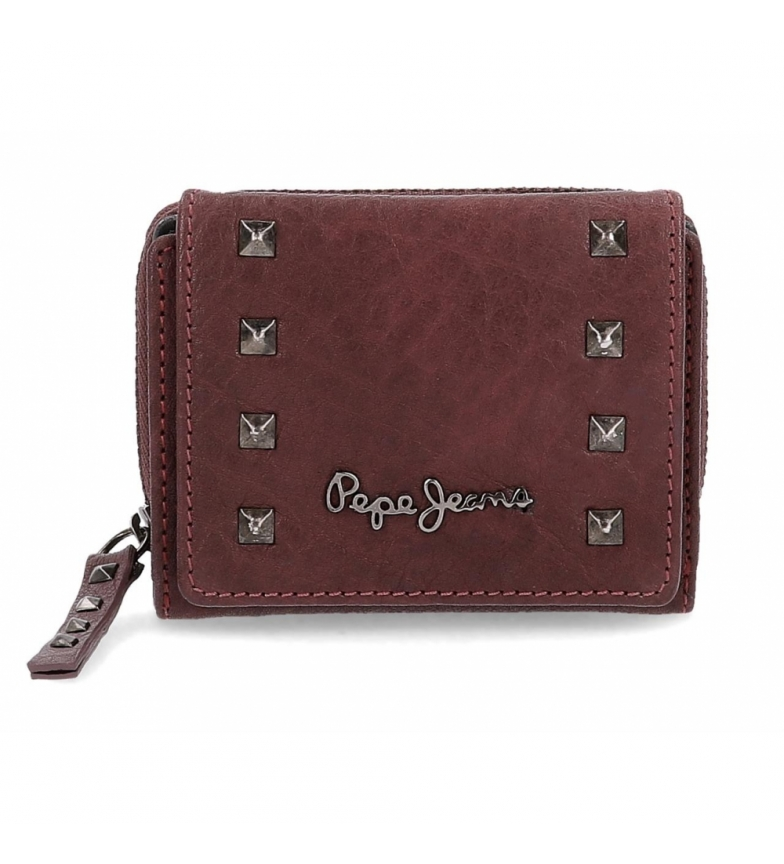 Comprar Pepe Jeans Pepe Jeans Alessia wallet with burgundy click flap -10.5x8x3cm