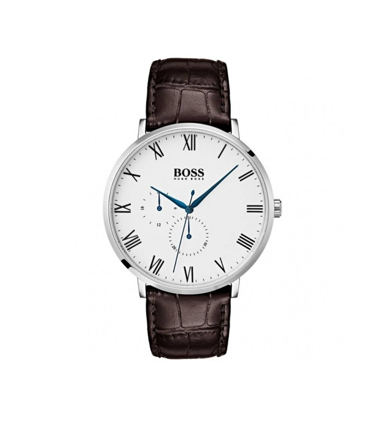 Comprar Hugo Boss Leather analog watch 15136 brown