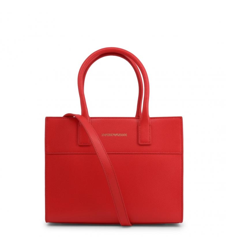 Comprar Emporio Armani Leather handbag Y3A115_YSE2B red - 27.5x22x12cm