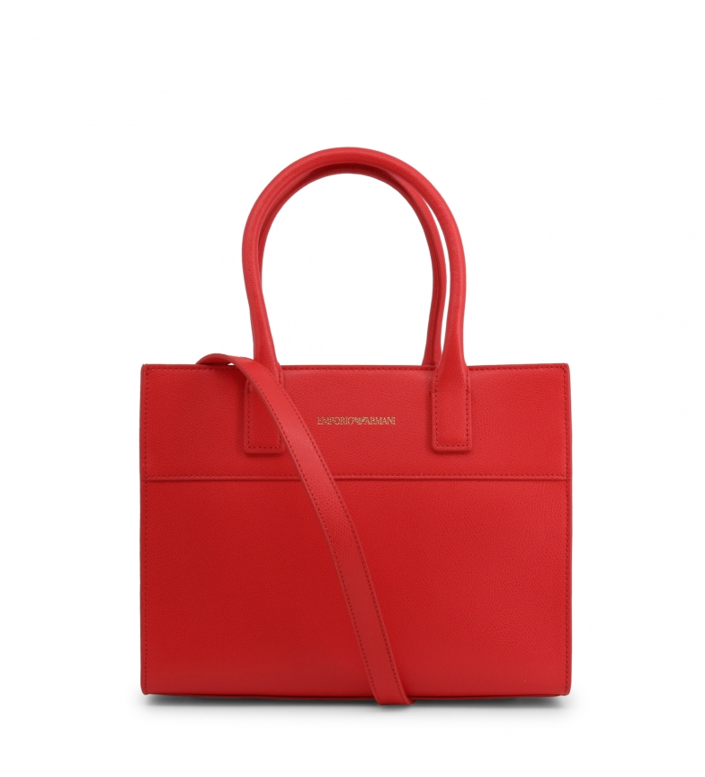 Comprar Emporio Armani Bolsa de couro Y3A115_YSE2B vermelha - 27,5x22x12cm
