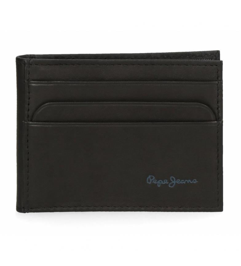 Comprar Pepe Jeans Pepe Jeans Fair Black Leather Card Case -9,5x7,5x1cm