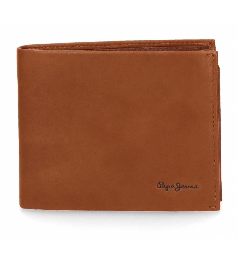 Comprar Pepe Jeans Pepe Jeans Fair leather wallet horizontal large camel -12.5x9.5x1cm