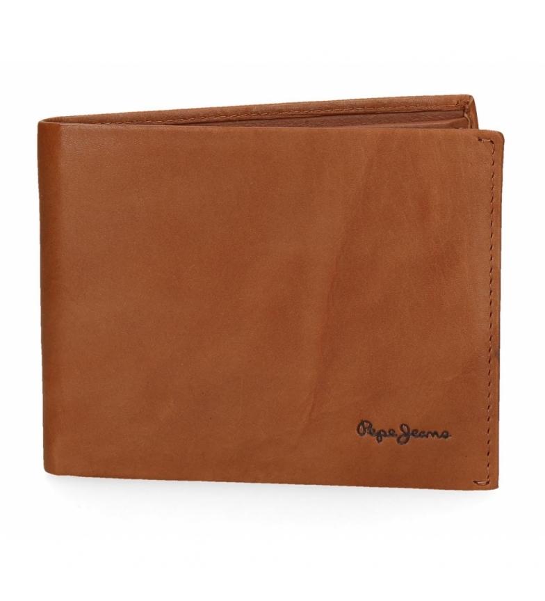 Comprar Pepe Jeans Pepe Jeans Feira carteira de couro de camelo -12,5x9,5x1cm