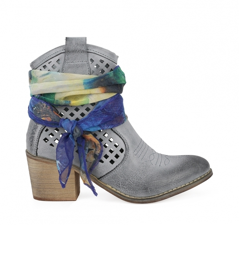 Comprar Chika10 Lily 03 light blue ankle boots -Heel height: 6cm