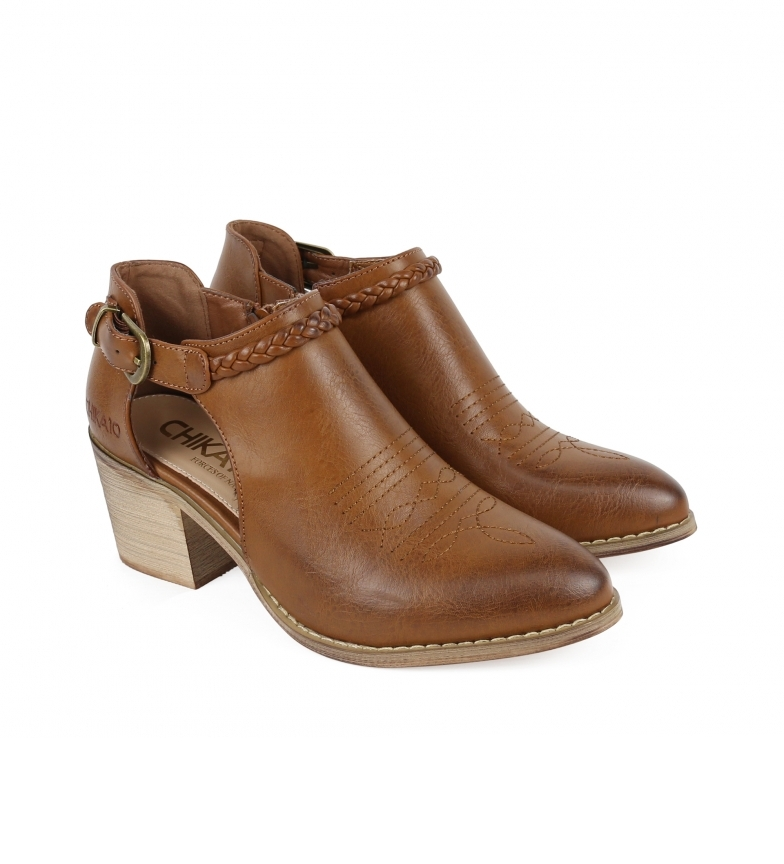 Comprar Chika10 Lily 05 brown ankle boots -Heel height: 6cm