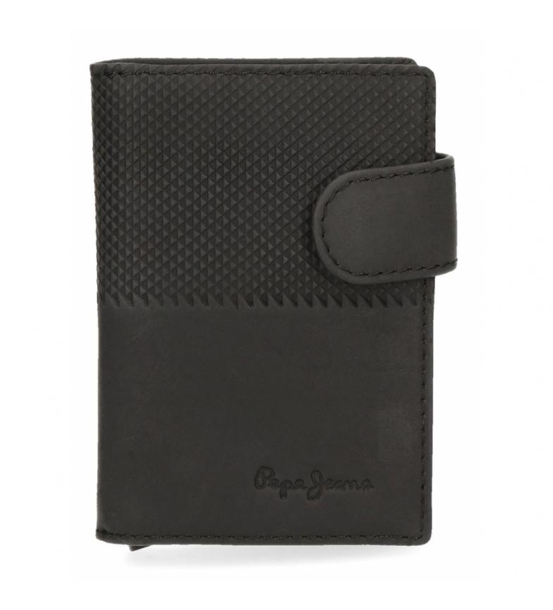 Comprar Pepe Jeans Titolare della carta in pelle Pepe Jeans Mezzo verticale nero -7x10x1,5cm-