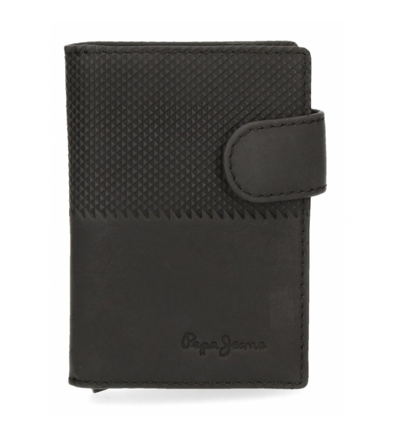 Comprar Pepe Jeans Pepe Jeans Half Vertical Black Leather Card Holder -7x10x1,5cm