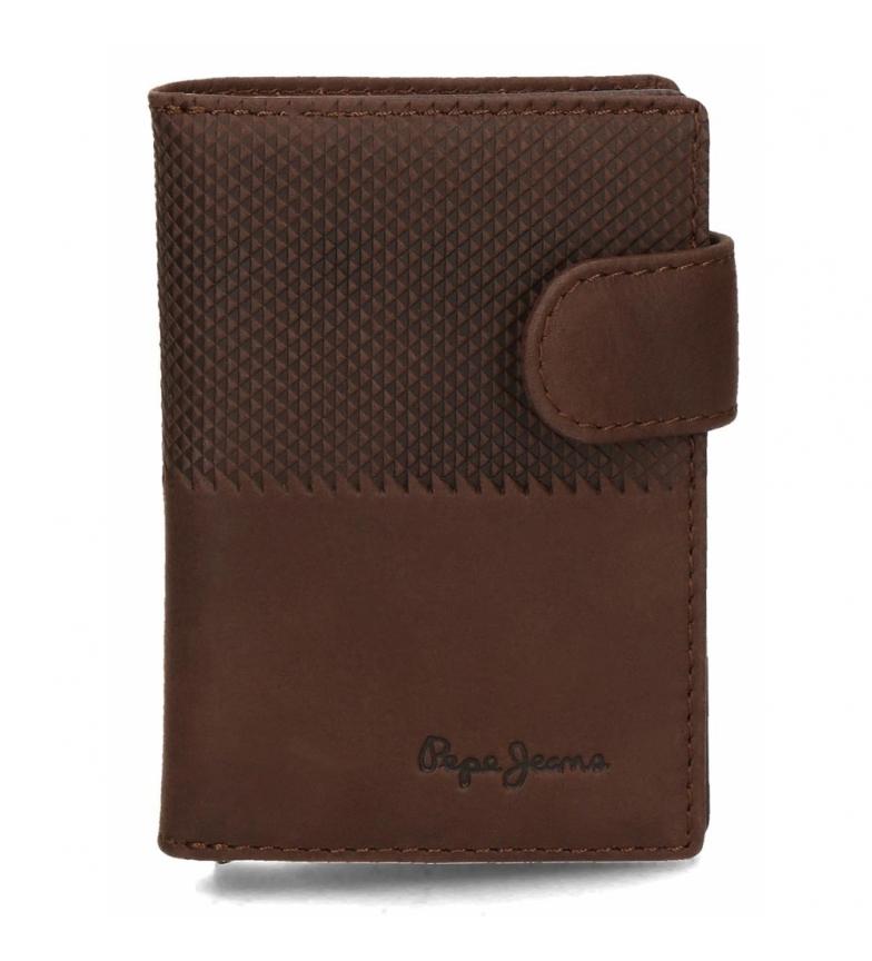Comprar Pepe Jeans Porte-cartes Pepe Jeans demi vertical en cuir brun -7x10x1,5cm