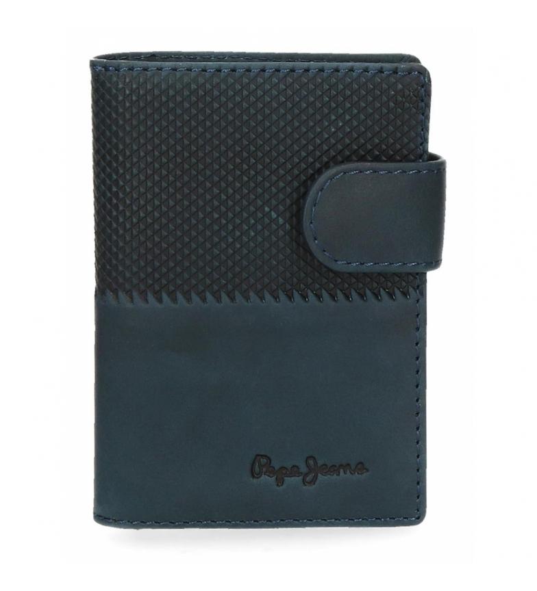 Comprar Pepe Jeans Pepe Jeans Titolare della carta in mezza pelle blu verticale -7x10x1,5cm-