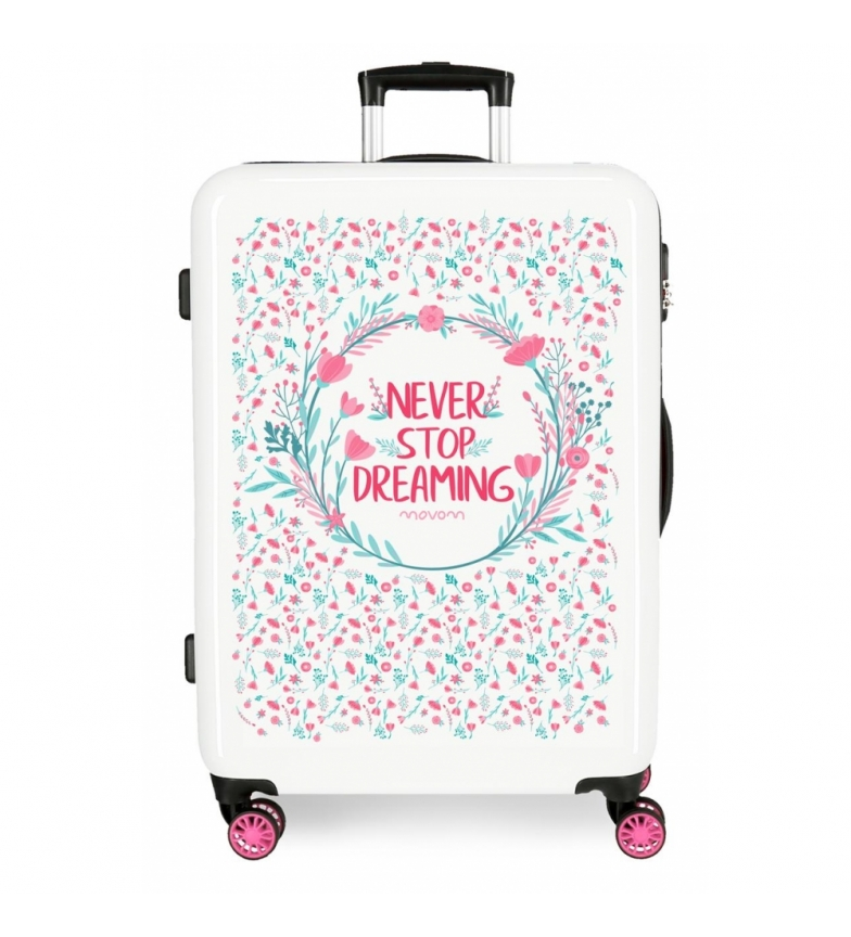 Comprar Movom Medium Suitcase Movom Never Stop Pink Rigid -48x68x26cm