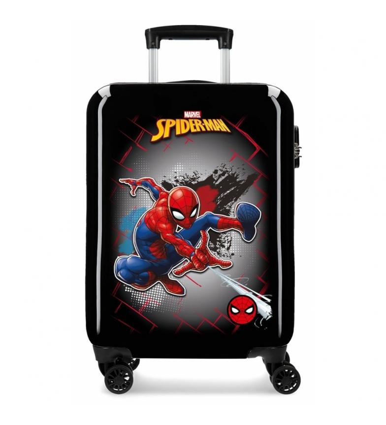 Comprar Spiderman Cabin size suitcase Spiderman Black rigid net -38x55x20cm