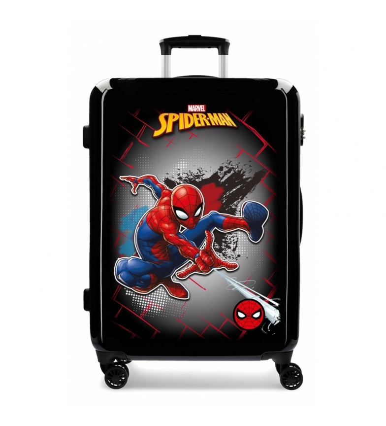 Comprar Spiderman Valigia media Spiderman rossa rigida nera -68x48x26cm-