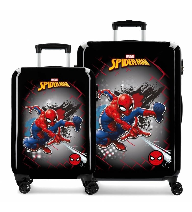 Comprar Spiderman Juego de Maletas Spiderman Red rígidas negro -38x55x20cm-