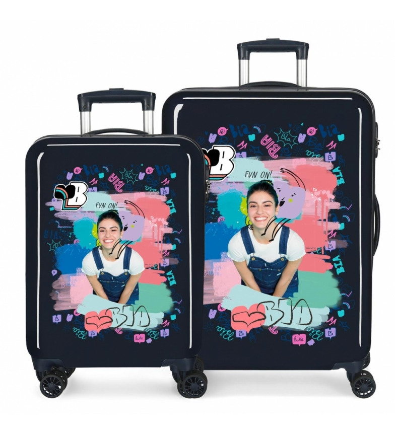 Comprar Disney Bia Jeans Hard Case Set Blue -38x55x20/48x68x26