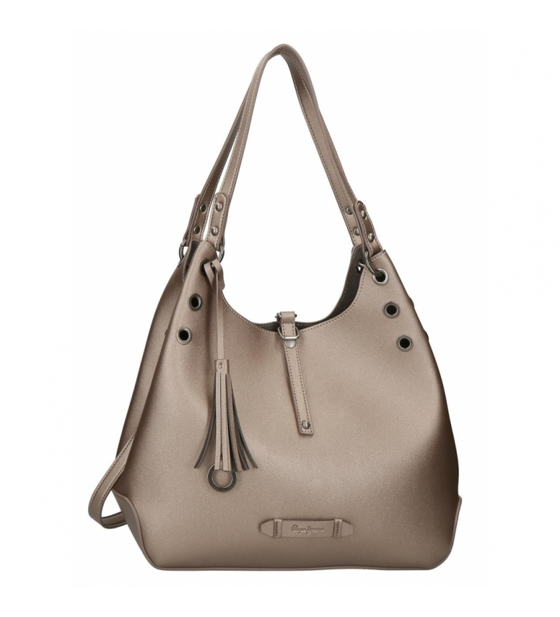 Comprar Pepe Jeans Bolso Hobo Pepe Jeans Angelica Bronce -34x28x16cm-