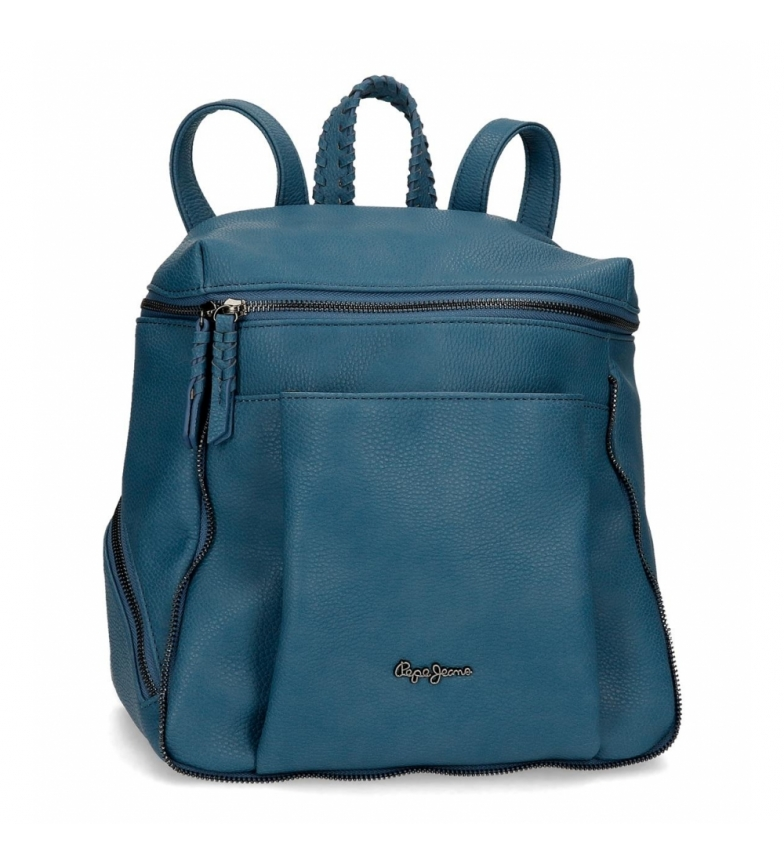 Comprar Pepe Jeans Pepe Jeans Braid Backpack Blue -27x35x14cm