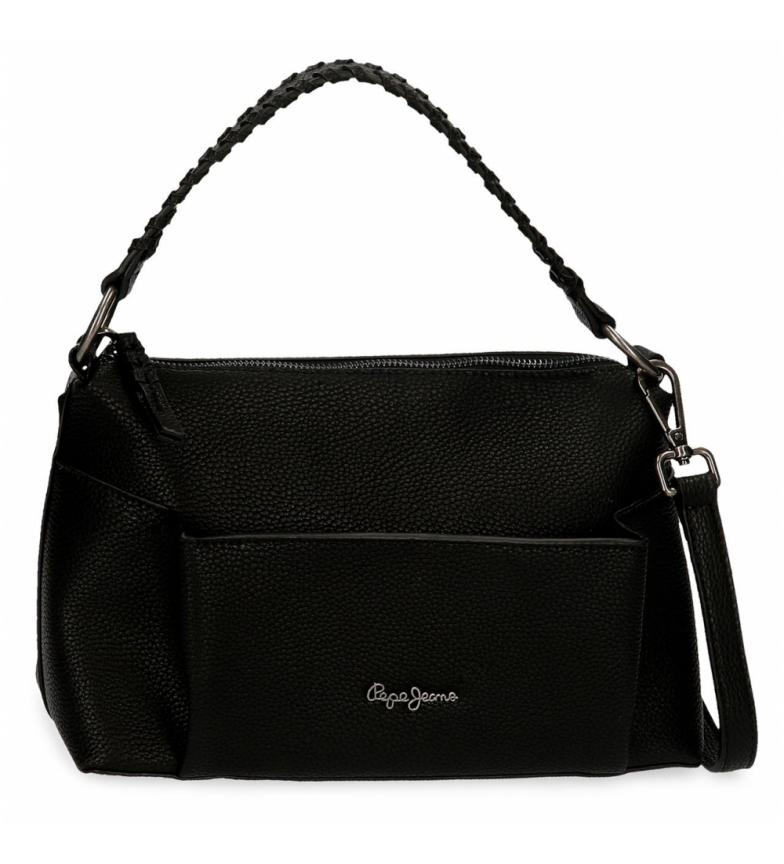 Comprar Pepe Jeans Pepe Jeans Braid Shoulder Bag Preto -27x19x12cm