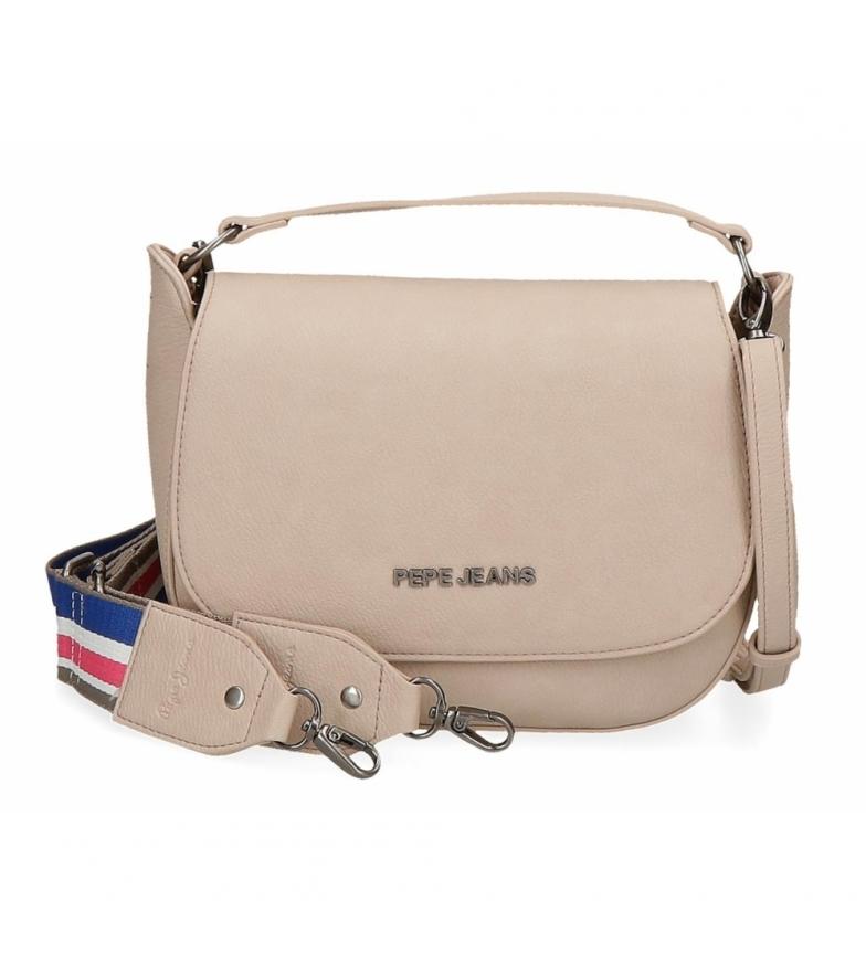 Comprar Pepe Jeans Pepe Jeans Eva saco a tiracolo com aba em Taupe -23x19x6cm