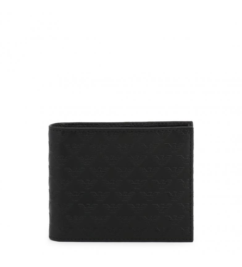 Comprar Emporio Armani Cartera de piel YEM176-YC043 negro -12x9x2.5cm-