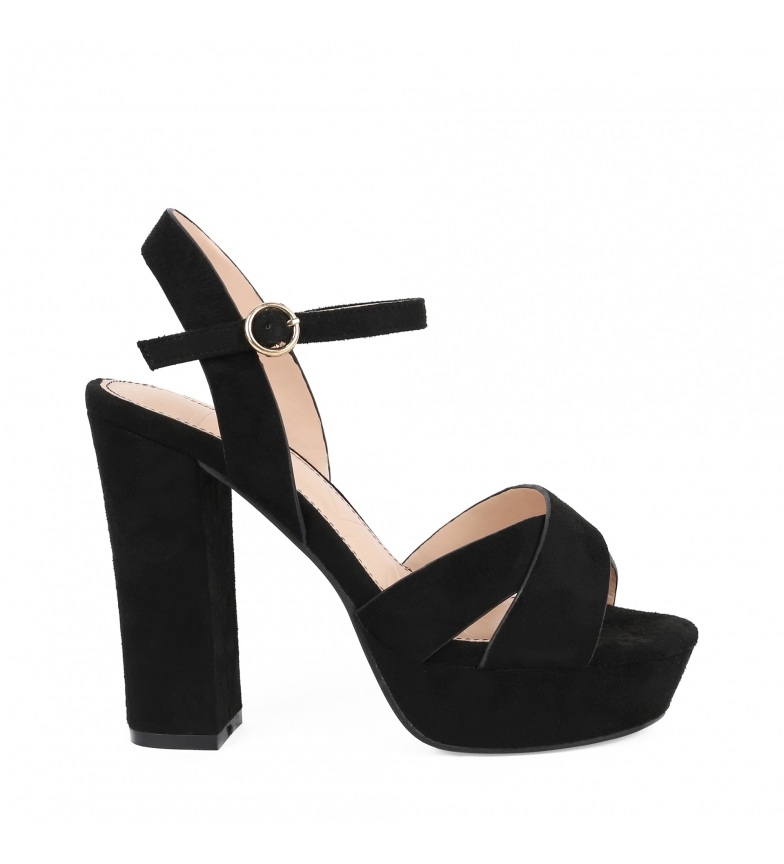 Comprar Chika10 Saturday 04 sandals black -Heel height: 11cm