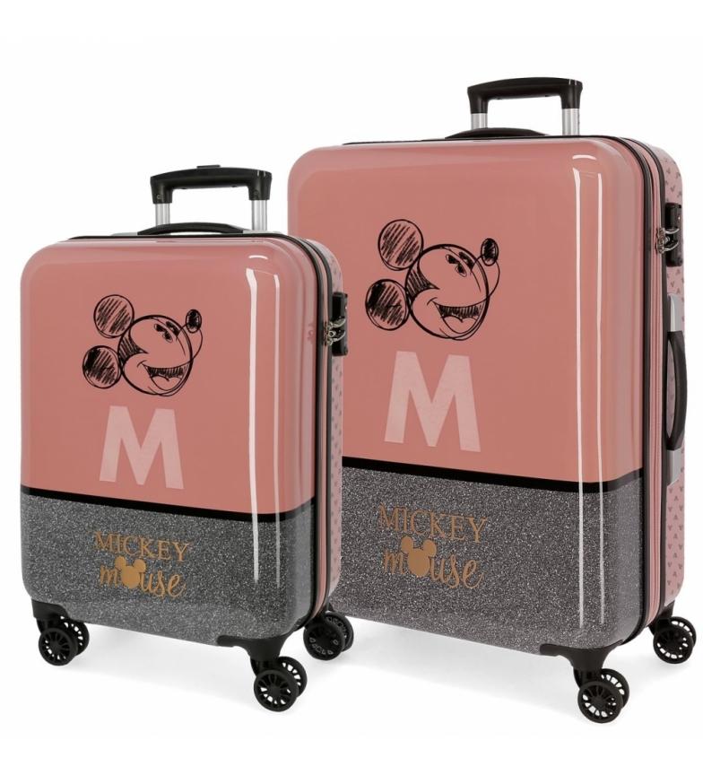 Comprar Mickey Mickey The Blogger hard sided suitcase set pink -38x55x20cm/48x68x26cm