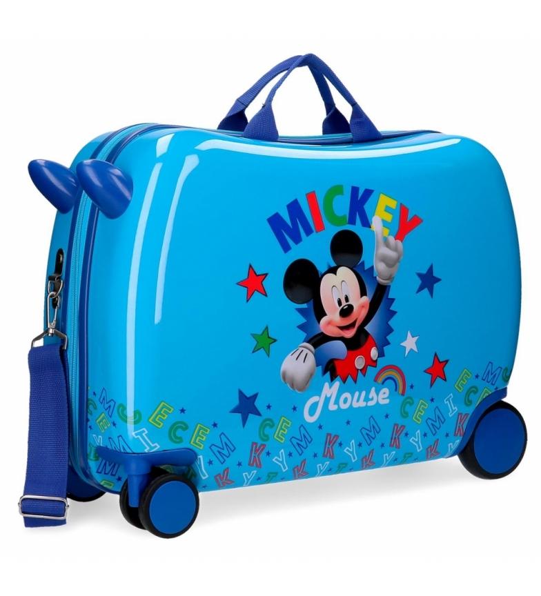 Comprar Mickey Valise pour enfants Mickey Stars avec 2 roues bleues multidirectionnelles -38x50x20m