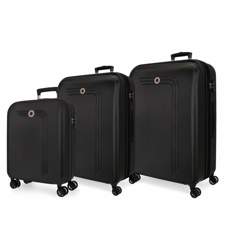 Comprar Movom Movom Riga Rigid Luggage Set black -40x55x20cm/49x70x27cm/56x80x29cm