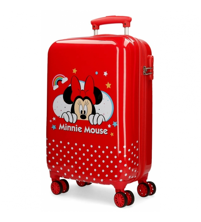 Comprar Minnie Cabin size suitcase Minnie Rainbow rigid red-34x55x20cm