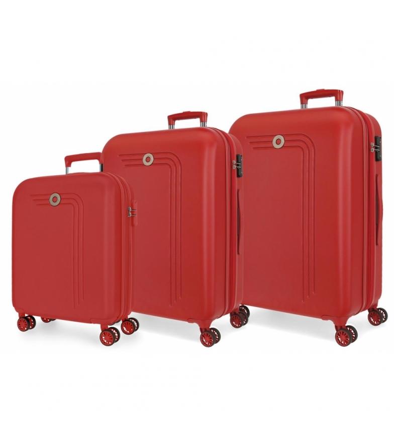 Comprar Movom Movom Riga Rigid Luggage Set red -55-70-80cm-