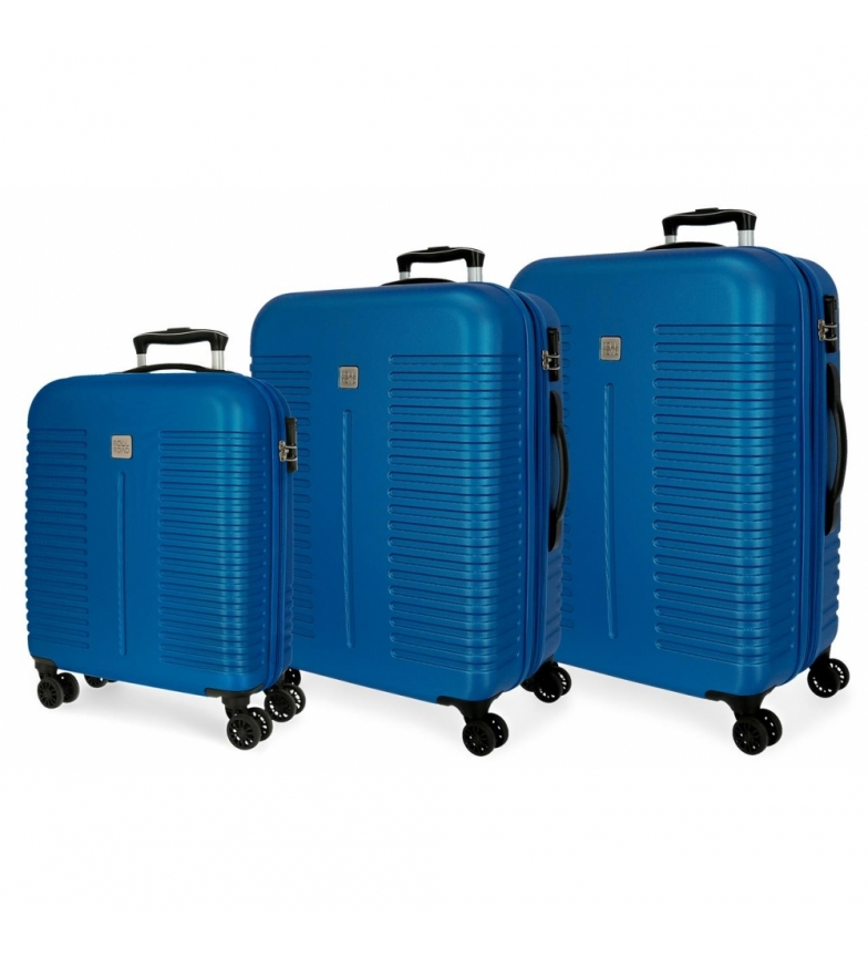 Comprar Roll Road Ensemble de bagages rigides Roll Road India Bleu -40x55x20cm/48x70x27cm/55x80x29cm