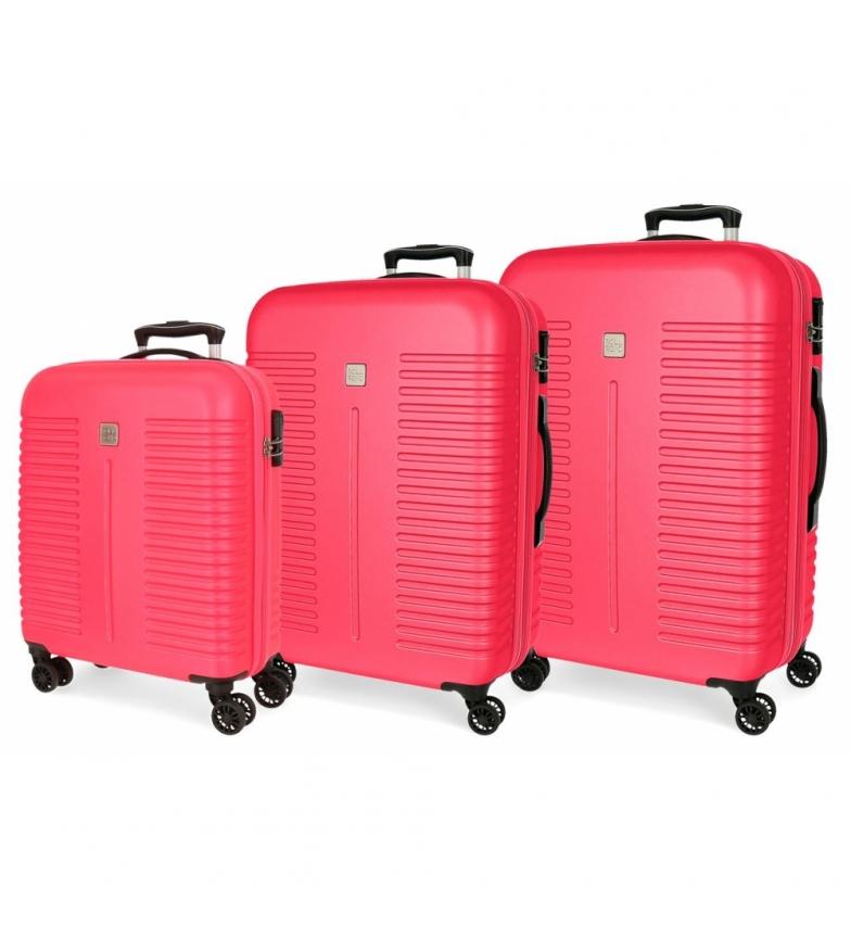 Comprar Roll Road Fuchsia Roll Road India Luggage Set -40x55x20cm/48x70x27cm/55x80x29cm