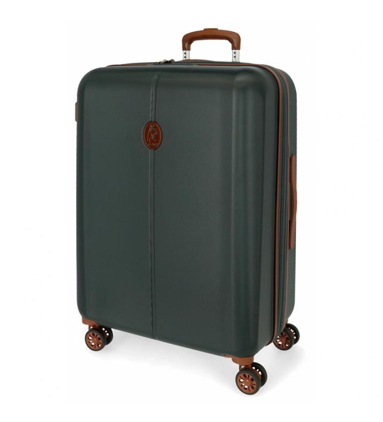 El Potro Suitcase Medium El Potro Ocuri green -49x70x28cm
