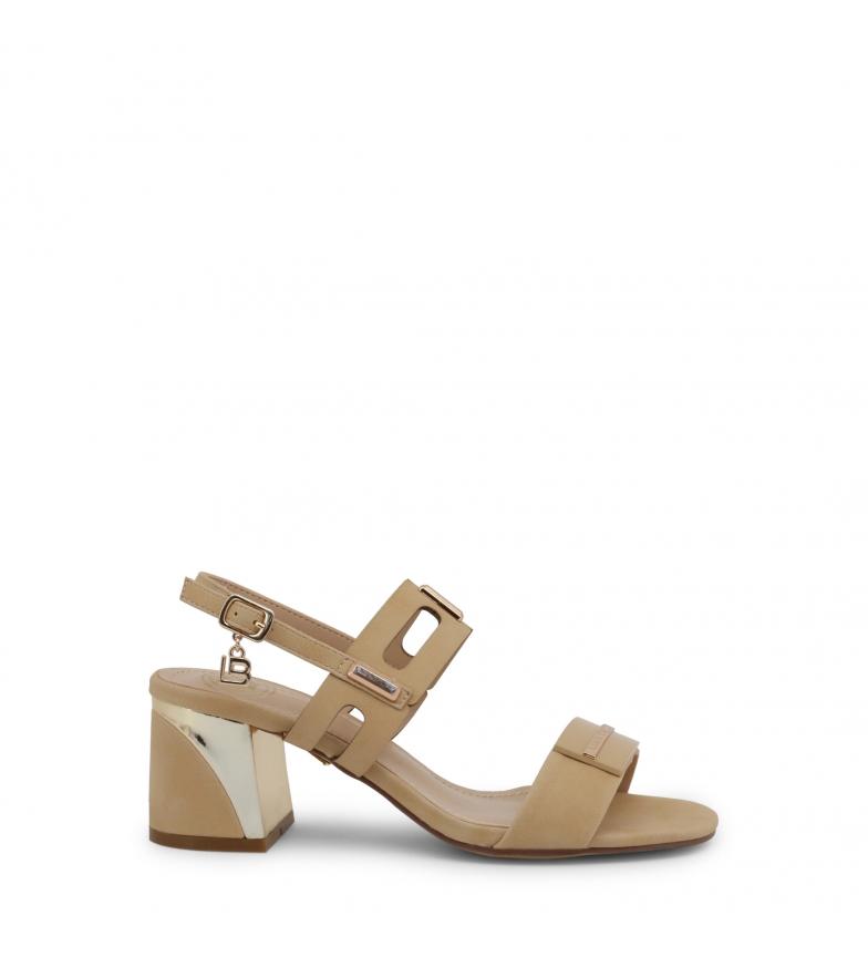 Comprar Laura Biagiotti Sandales 6151_NABUK marron - hauteur du talon : 6,5cm
