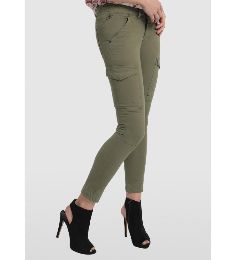 Lois Pants Multi Pockets Multi Bloog khaki green