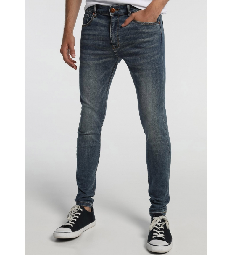 Lois Argent - jeans en denim Godiva