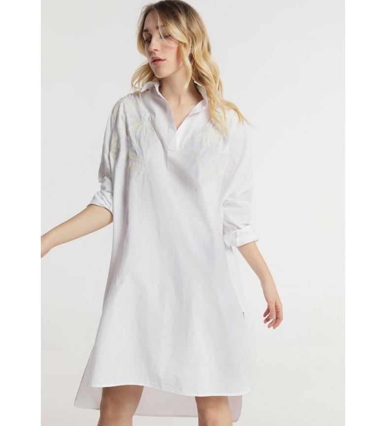 Comprar Victorio & Lucchino, V&L Vestido de Corte Largo Bordado Branco