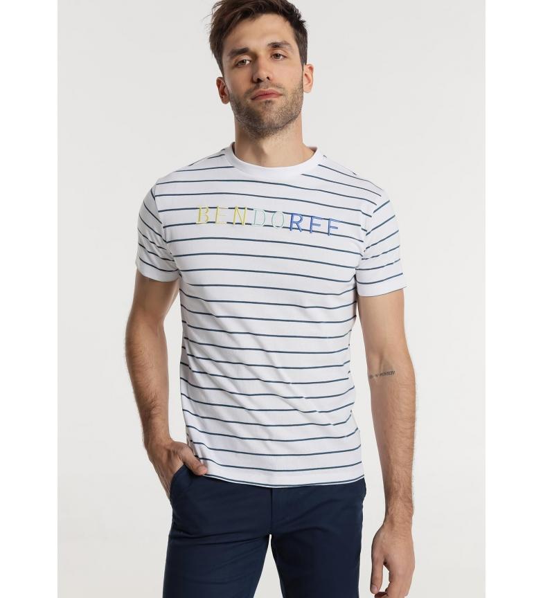 Bendorff Camiseta Rayas Bordada blanco, azul