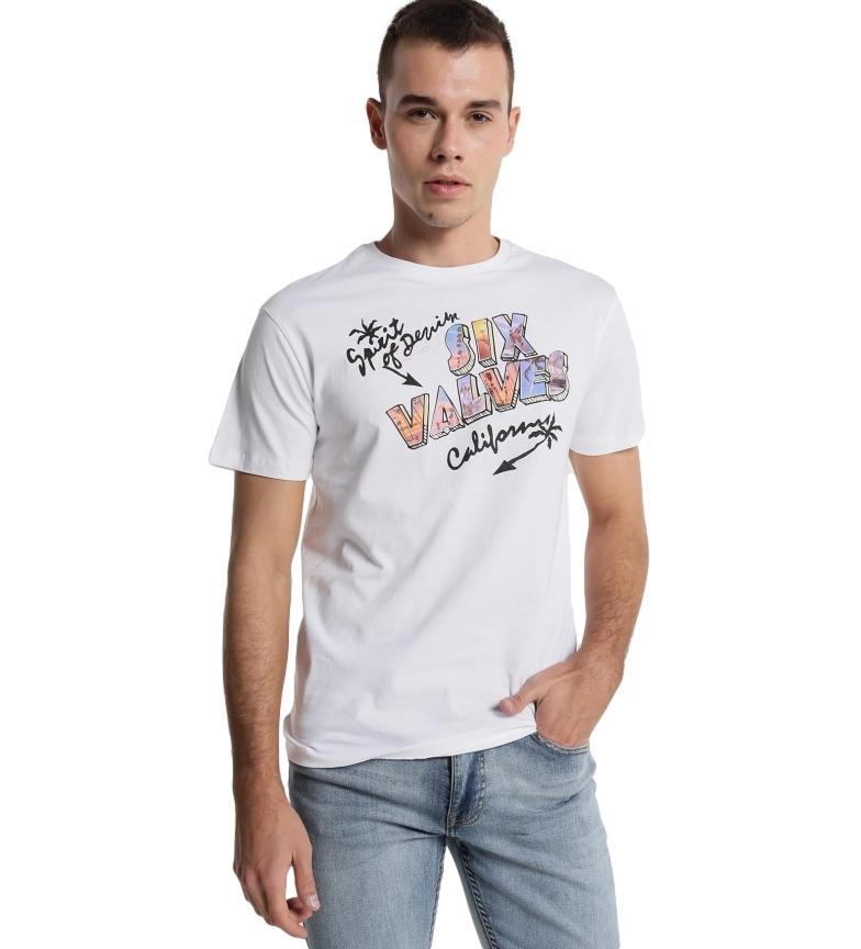 Six Valves T-shirt Six California blanc
