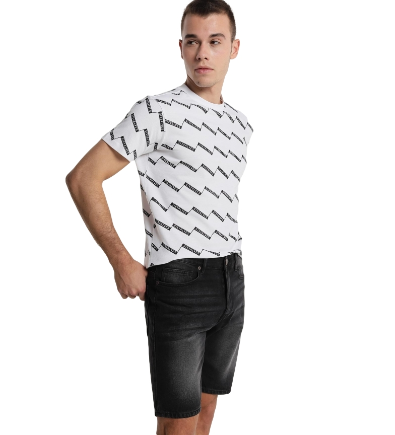 Comprar Six Valves Relaxed Fit denim bermuda shorts black